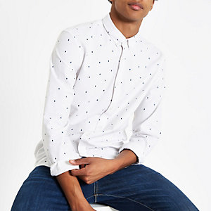 Minimum white rain drop classic shirt