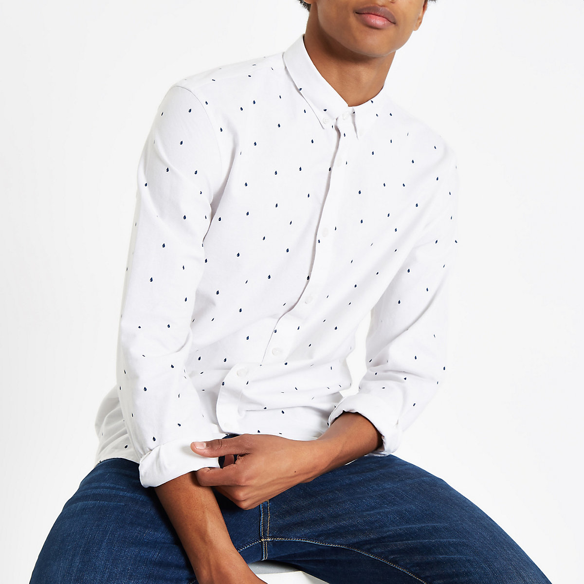 Minimum white rain drop classic shirt