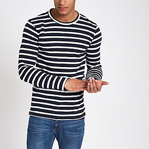 Minimum ecru stripe long sleeve sweater