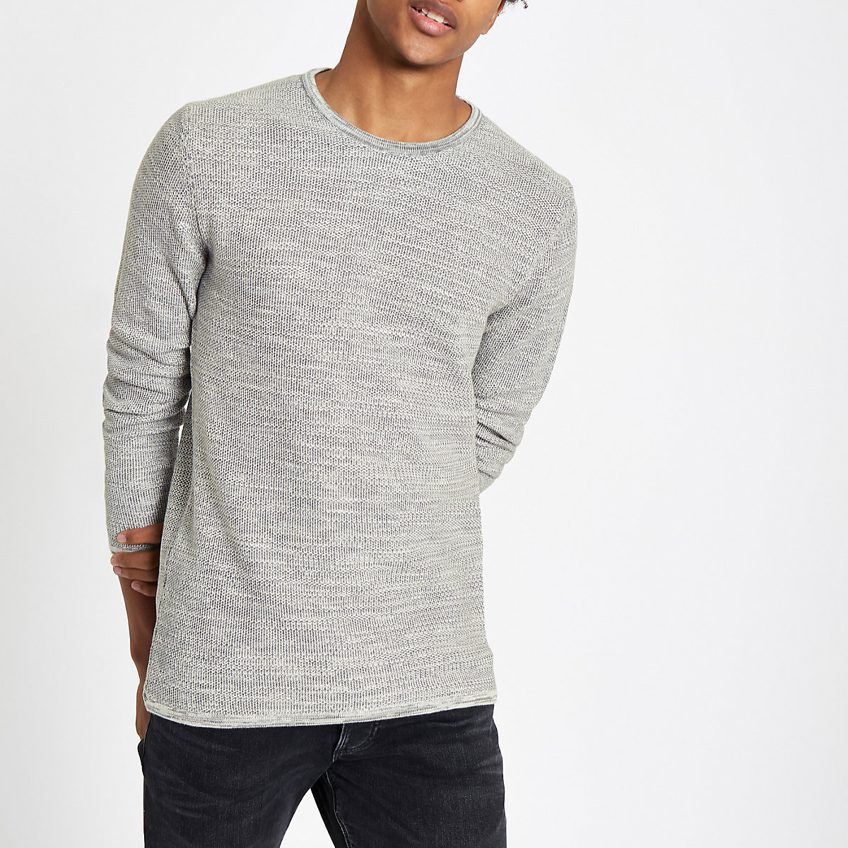 Minimum grey crew neck jumper