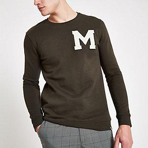 Minimum – Grünes Sweatshirt mit Logoprint