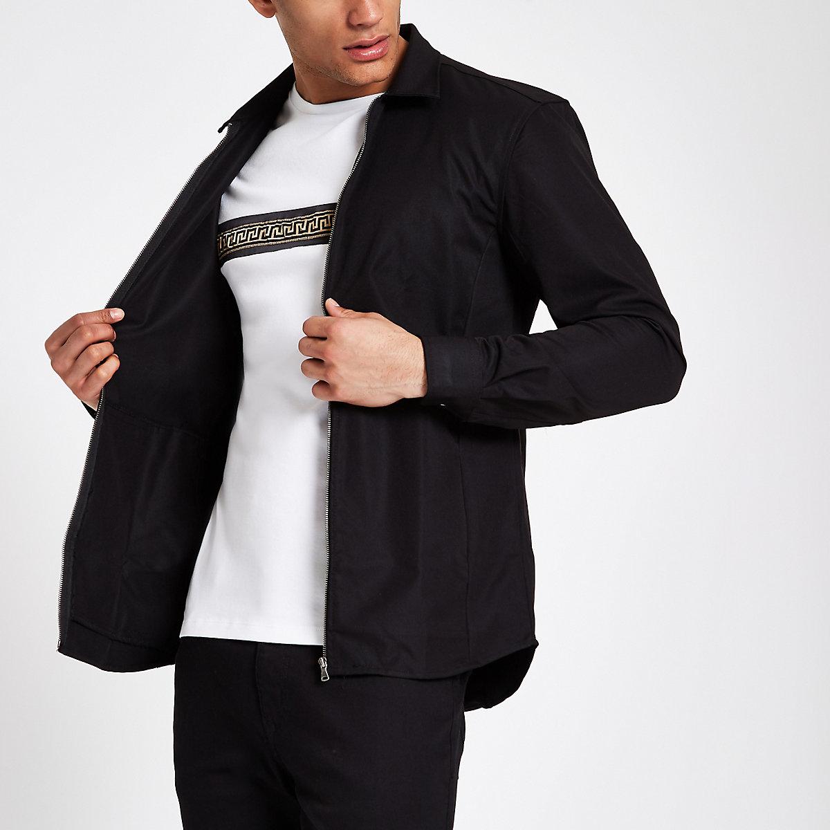Minimum black light weight jacket