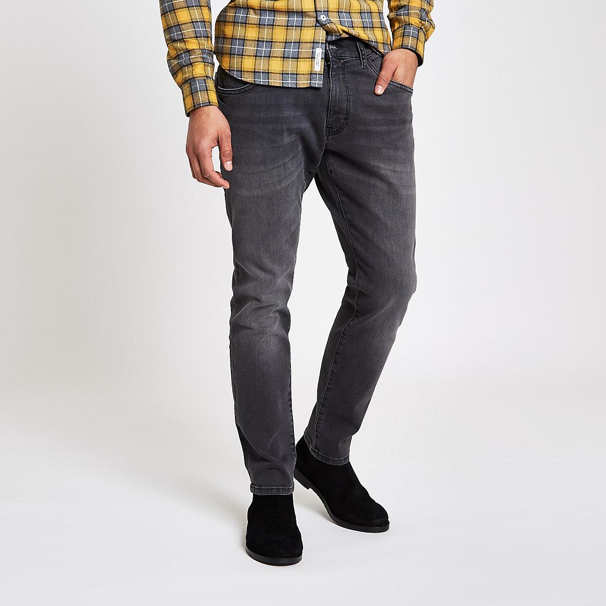 Wrangler grey Bryson skinny fit jeans