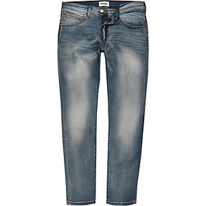 Wrangler – Bryson – Hellblaue Skinny Jeans