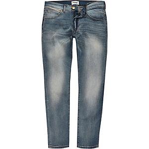 Wrangler - Bryson - Lichtblauwe skinny jeans