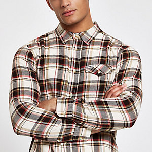 Wrangler red long sleeve check shirt