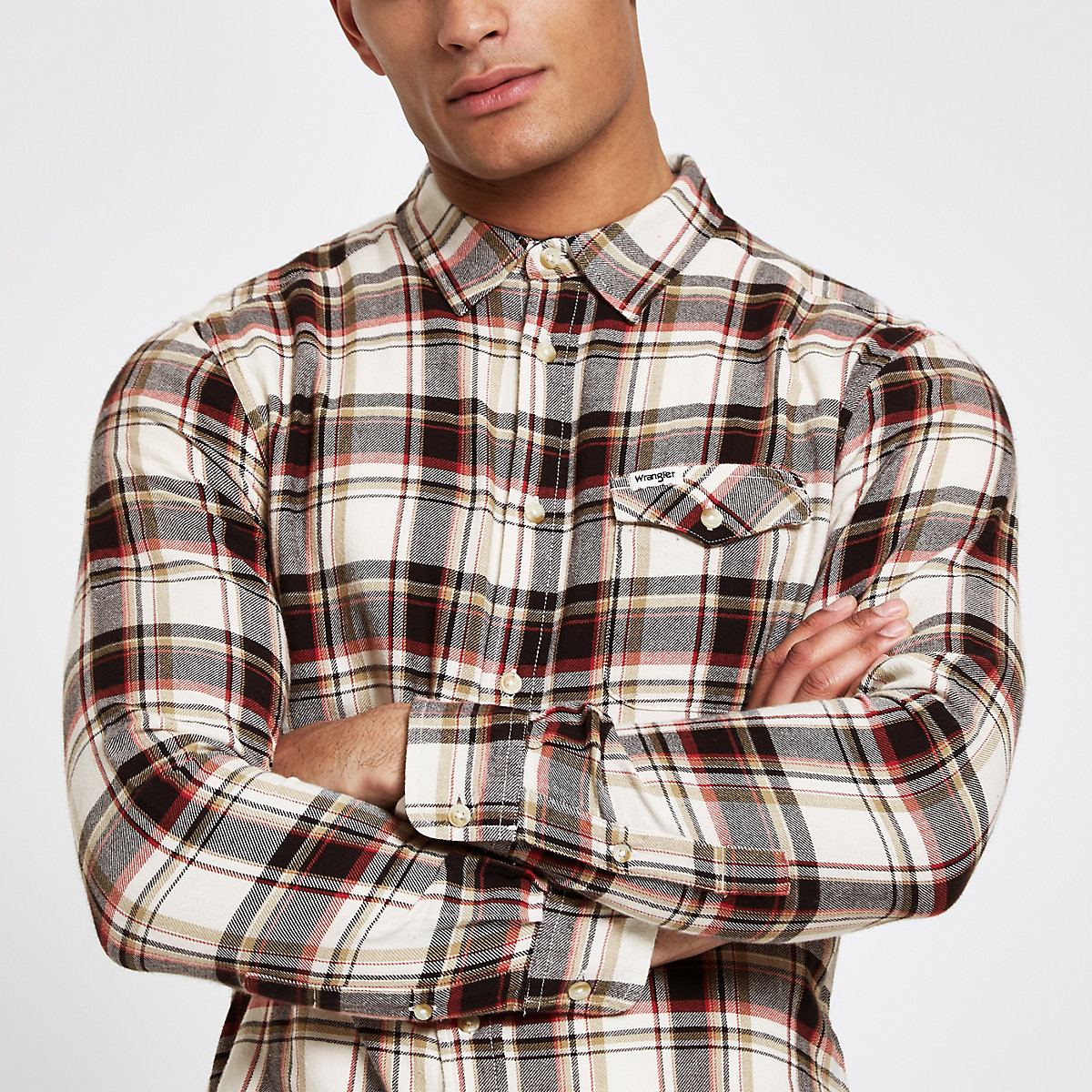Wrangler red long sleeve check shirt