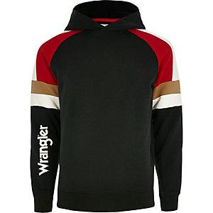 Wrangler - Zwarte hoodie met contrast