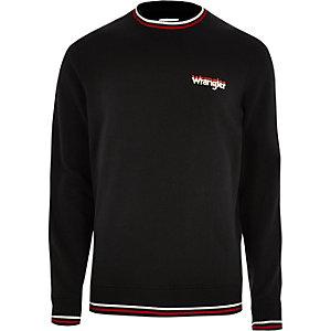 Wrangler - Zwarte pullover met ronde hals