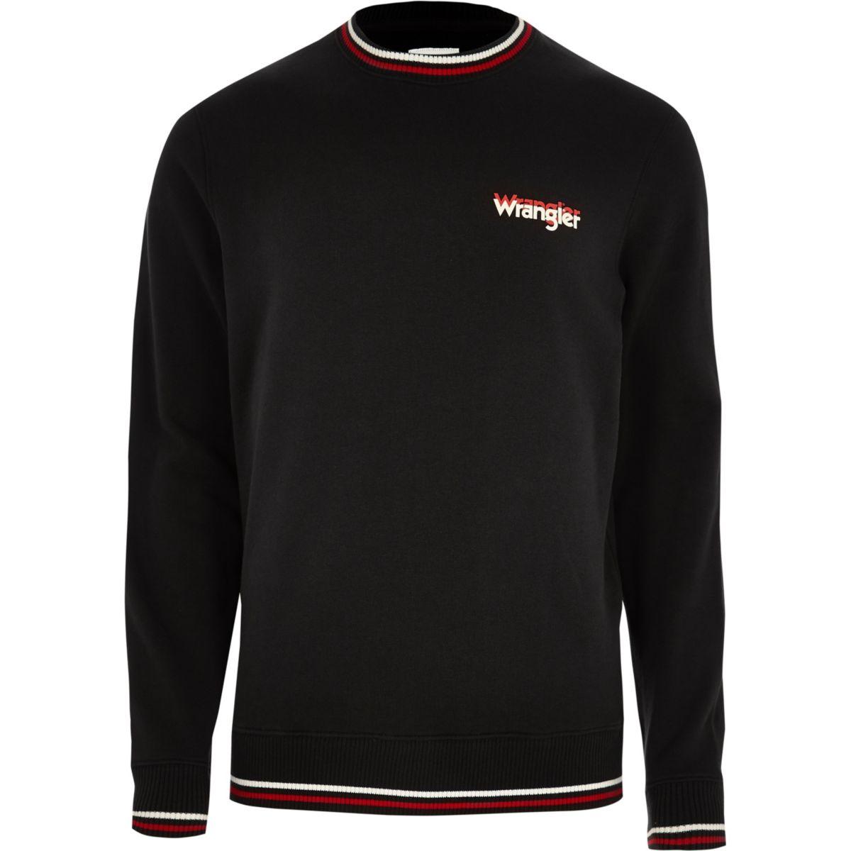 Wrangler black crew neck sweater