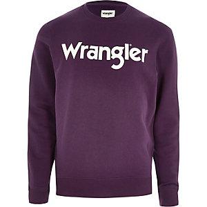 Wrangler purple sweatshirt
