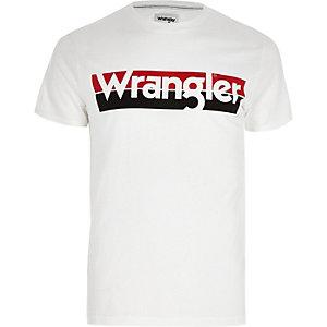 Wrangler – T-Shirt in Ecru