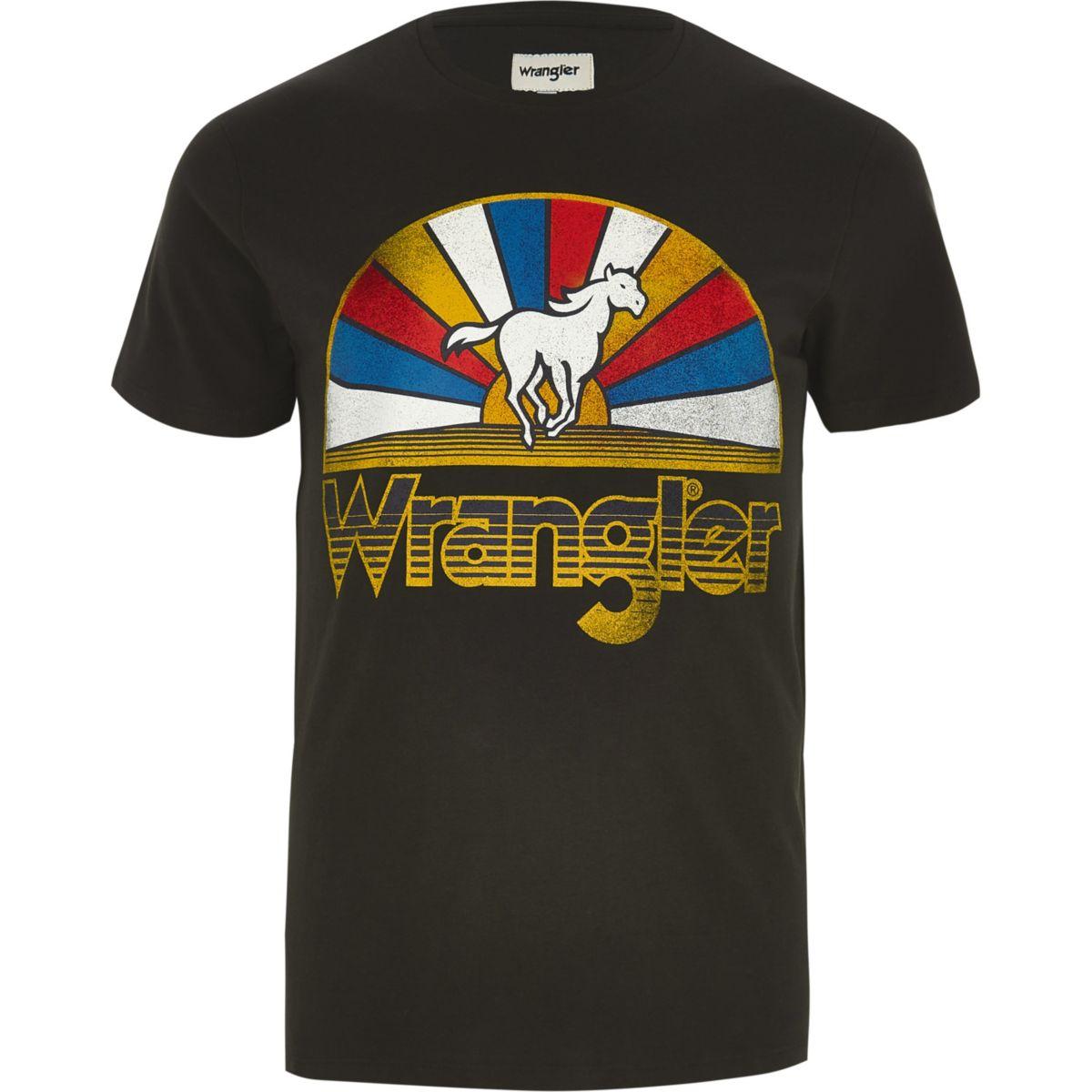 Wrangler black horse logo T-shirt