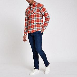 Pepe Jeans – Dunkelblaue Skinny Fit Jeans