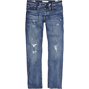 Pepe Jeans Cash - Blauwe ripped jeans