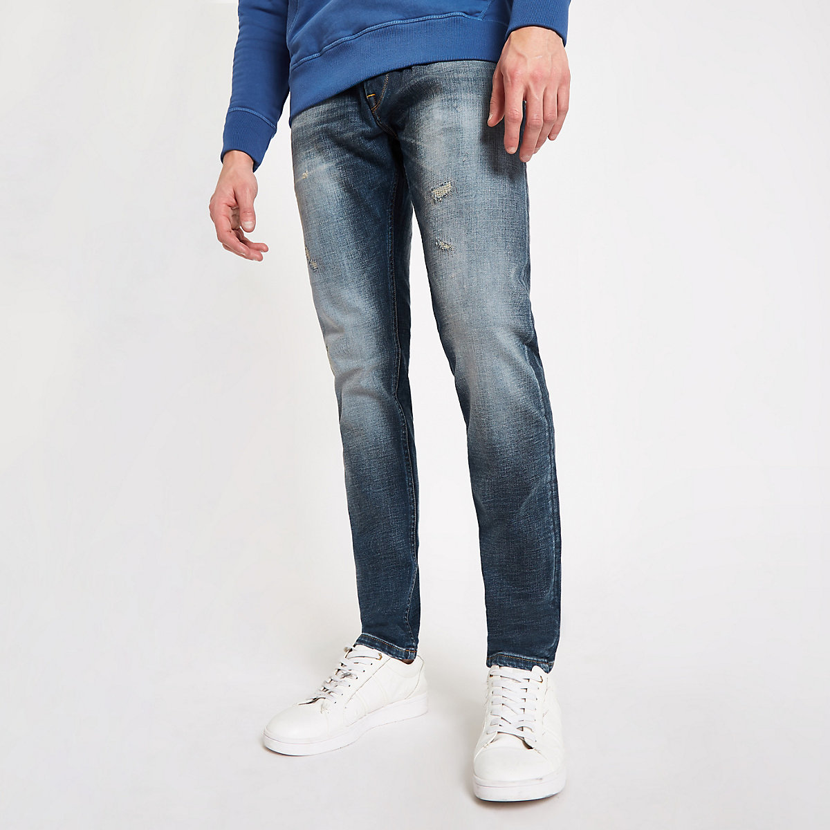 Pepe Jeans blue Stanley tapered tinted jeans