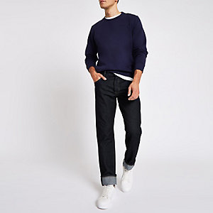 Pepe Jeans - Callen - Donkerblauwe relaxte jeans
