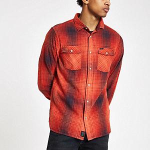 Pepe Jeans - Rood geruit overhemd met knopen