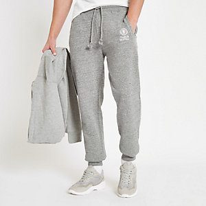 Franklin & Marshall - Grijze fleece joggingbroek