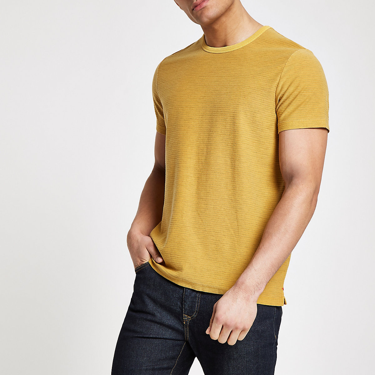 Pepe Jeans yellow stripe T-shirt