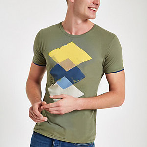 Pepe Jeans – Grünes T-Shirt mit Print