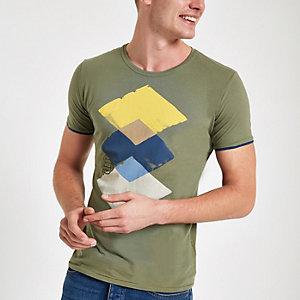 Pepe Jeans - Groen T-shirt met heelalprint