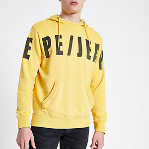 Pepe Jeans – Sweatà capuche jaune