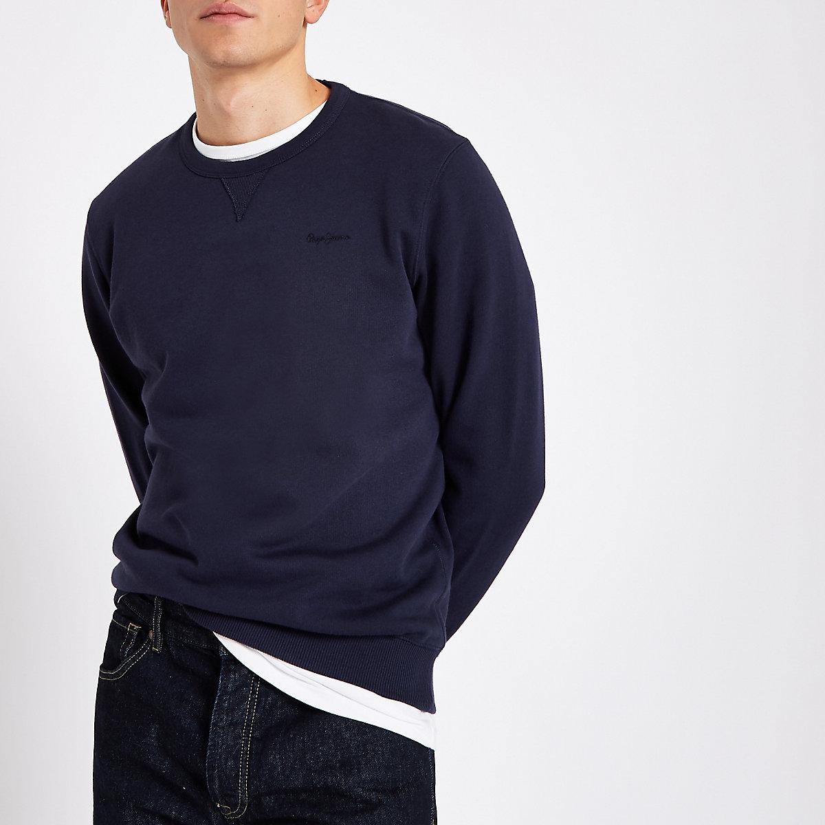 Pepe Jeans navy crew neck sweater