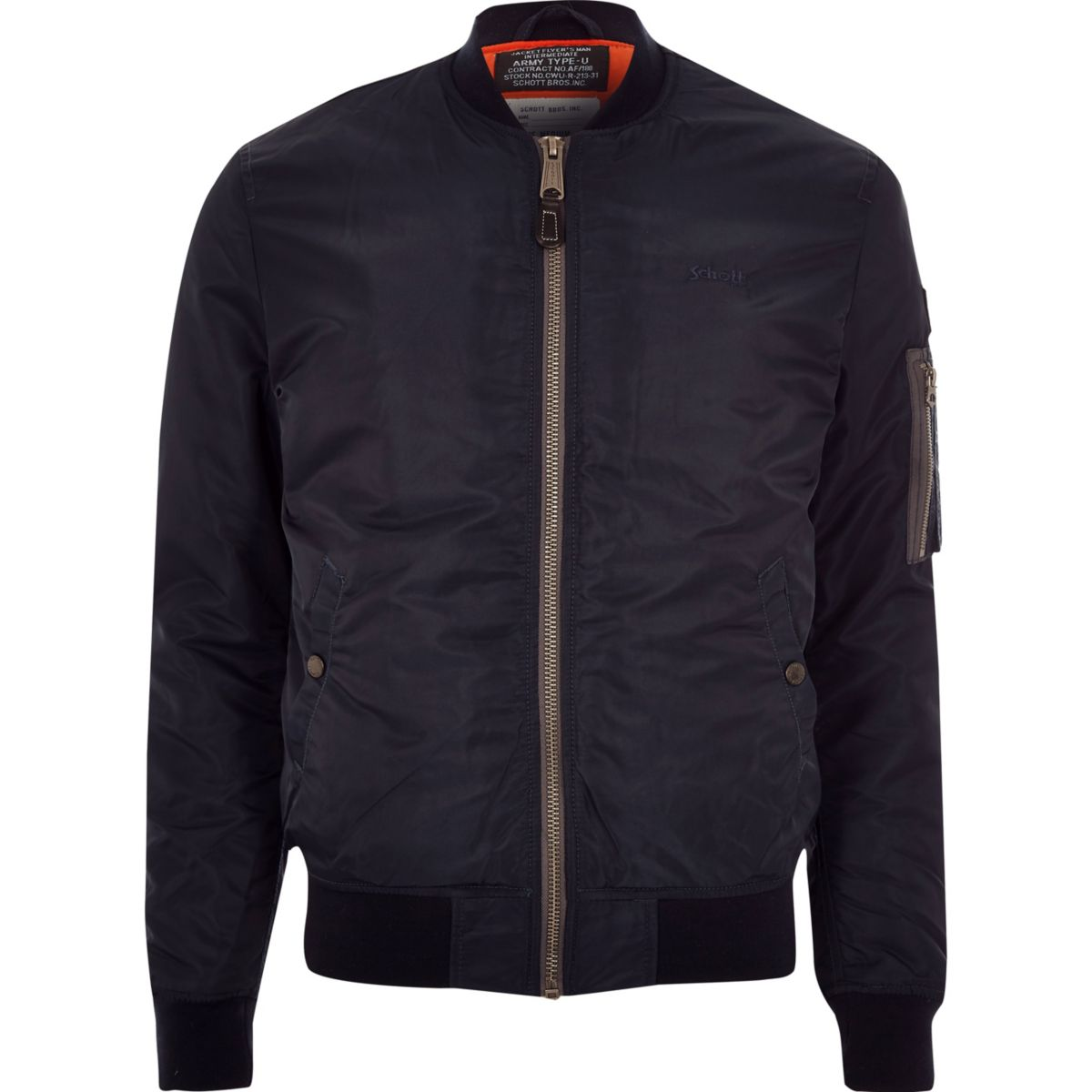 Schott dark blue bomber jacket