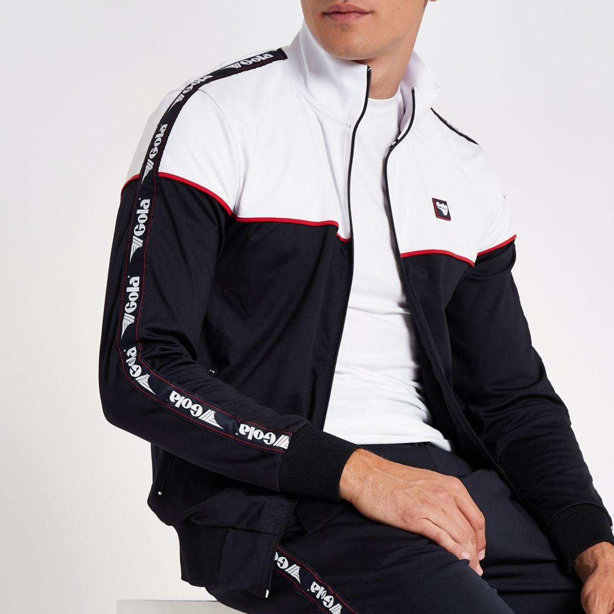 Gola navy panel zip through jacket