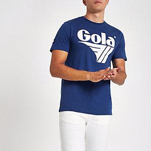 Gola – Blaues T-Shirt mit Logo-Print