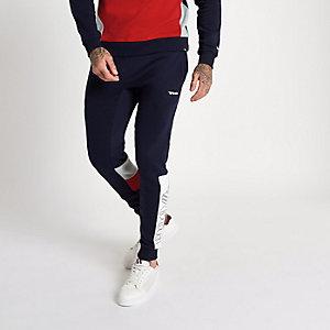 Gola – Pantalon de jogging bleu marine à empiècement et imprimé logo