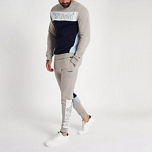 Gola – Pantalon de survêtement à empiècement grège