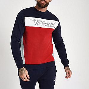 Gola - Marineblauw sweatshirt met logo en print