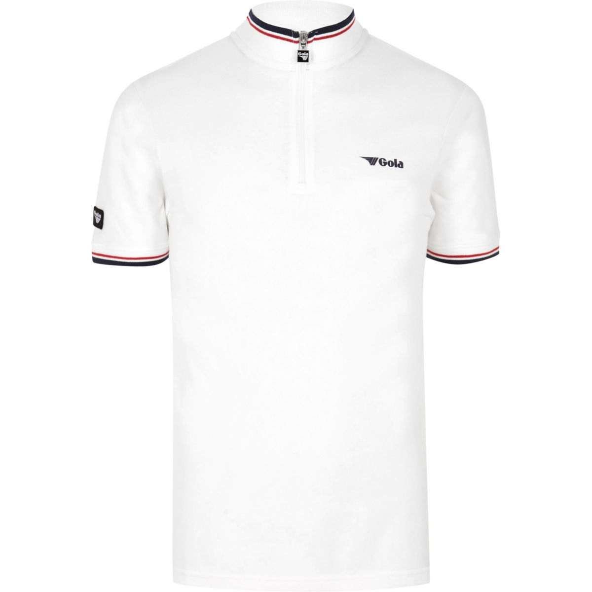 neck zip white Gola top funnel Cwq7vRO