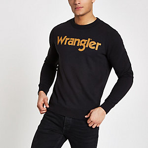 Wrangler – Schwarzes Sweatshirt