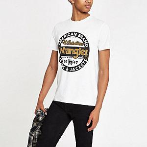 "Wrangler – T-Shirt in Ecru ""Americana"""