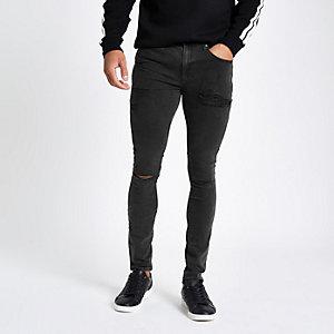 Danny - Zwarte superskinny spray-on jeans