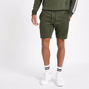 Dark green tape shorts