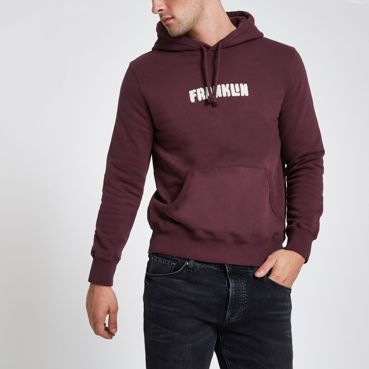 Franklin & Marshall – Hoodie in Bordeaux