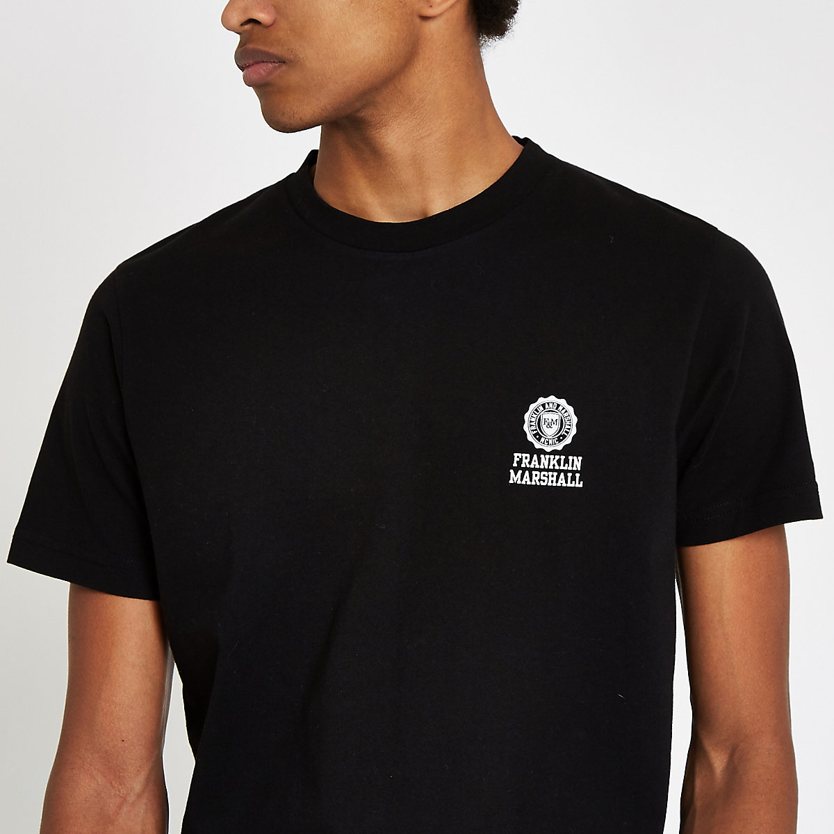 Franklin & Marshall black crew neck T-shirt