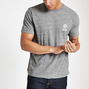 Franklin & Marshall grey chest logo T-shirt