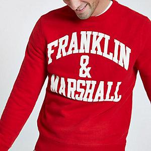 Franklin & Marshall – Rotes Sweatshirt mit Rundhalsausschnitt