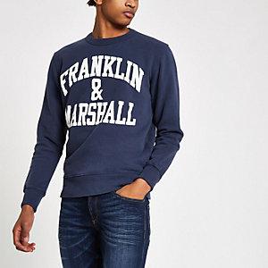 Franklin & Marshall - Marineblauw sweatshirt met logo