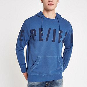 Pepe Jeans blue logo hoodie