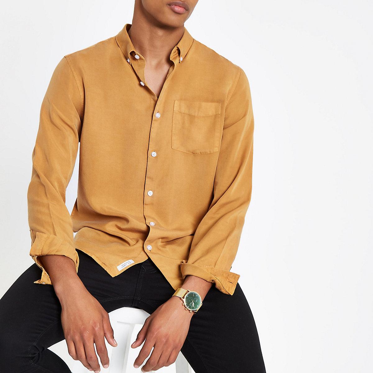 Mustard yellow long sleeve shirt
