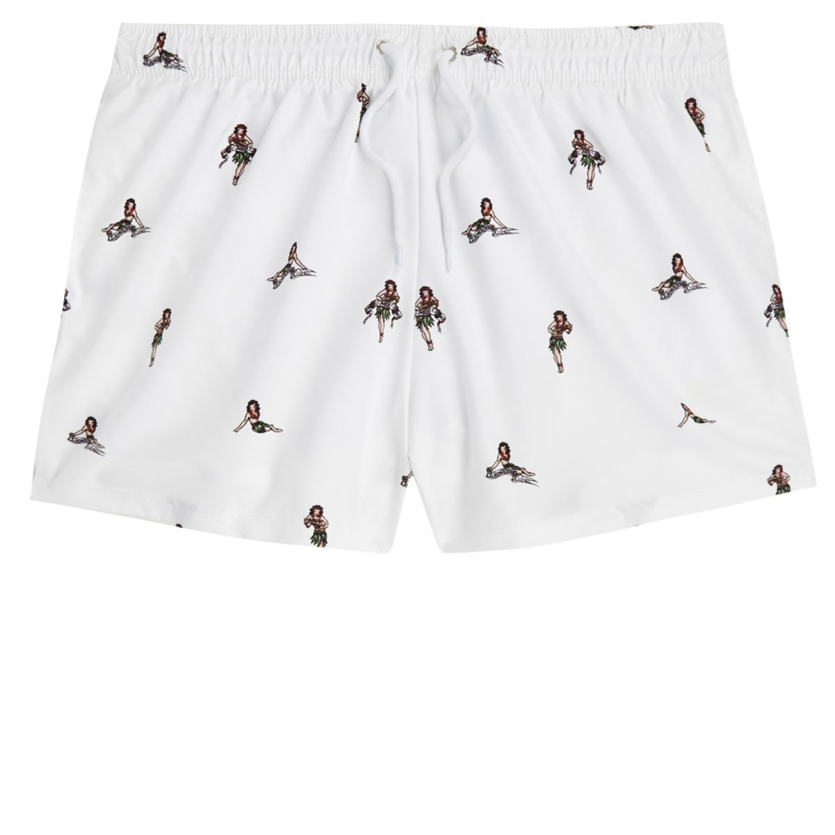print pin White girl up shorts swim TAzna