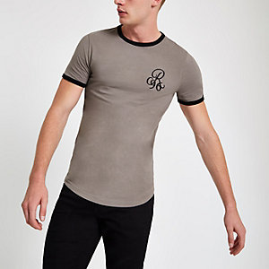 "Steingraues Muscle Fit T-Shirt ""R96"""
