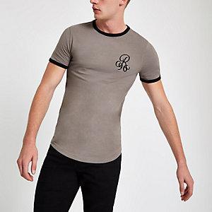 T-shirt ajusté R96 grège