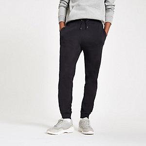 Pantalon de jogging slim en piqué bleu marine